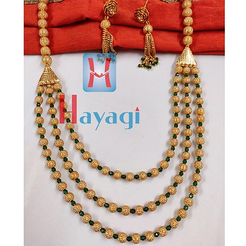 Long Necklace 3 String Red Bormala_Hayagi(Pune)
