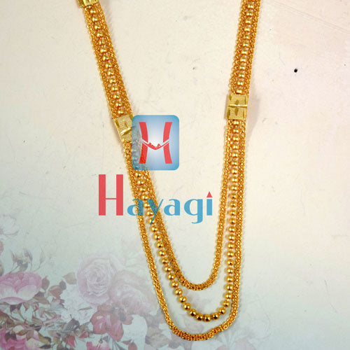 Gold Polish Mala 3 Layer Buy Online_Hayagi(Pune)