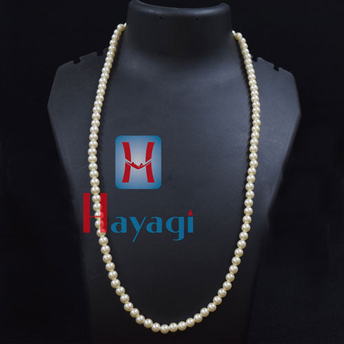 Mala Off White Medium Size Pearl necklace Buy Online_Hayagi(Pune)