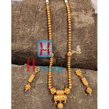 Antique Golden Design Beads Mala Pendant Set - Hayagi Pune