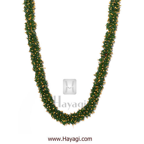 Chandni Necklace Green Pearls Woven Mala Set Online - Hayagi - Beeline  - 2