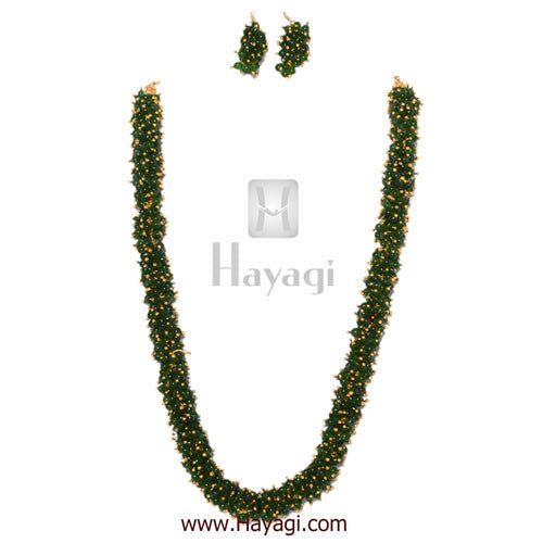 Chandni Necklace Green Pearls Woven Mala Set Online - Hayagi - Beeline  - 1
