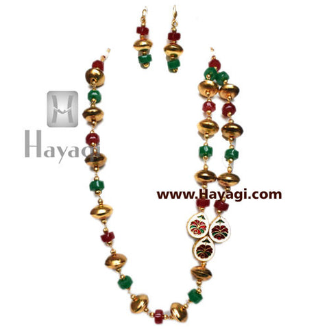 Bead Mala Set Fashionable Multicolor - Hayagi - Beeline  - 5