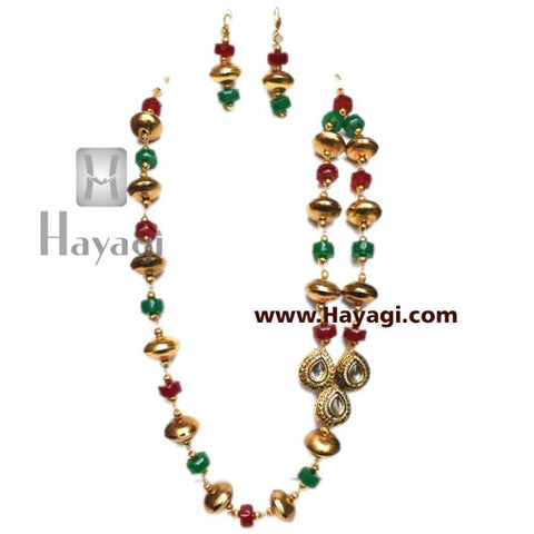 Bead Mala Set Fashionable Multicolor - Hayagi
