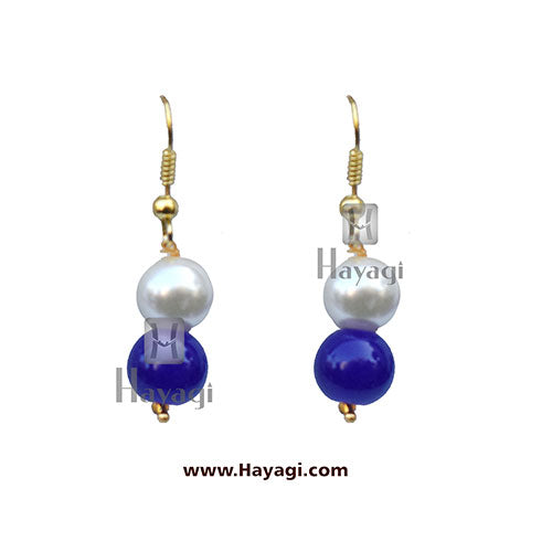 Beads Pearl Royal Blue Fashionable Mala_Hayagi