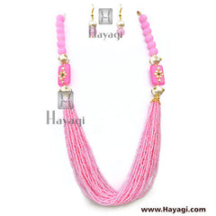 Beads Pearl Light Pink Fashionable Mala - Hayagi