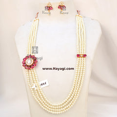 Pearl Rani Haar in 4 strings Online Shopping