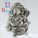 Ganesha/Ganpati Statue In Silver Finish Wall Piece - Hayagi