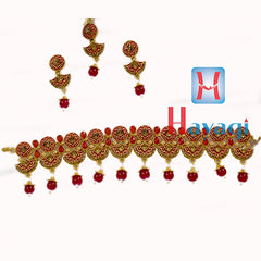 Mint Jewellery Necklace Fashion Red Colour Buy Online-  Hayagi