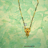 Mangalsutra Golden Meenakari Pendant Design Online Shopping India-Hayagi