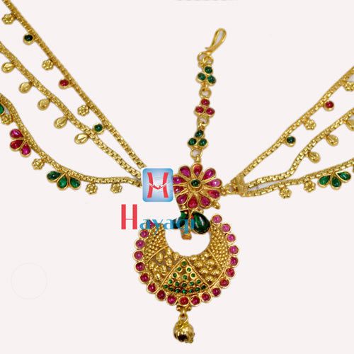 Multicolour Mata Patti Pearl Gold Polishing_Hayagi(Pune)
