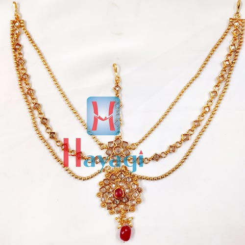 3 Layer Matha Patti LCT Stones For Bridal Hayagi_(Pune)