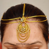 Indian Asian Matha Patti Tikka Head Chain Kundan Hair Jewellery Online_Hayagi