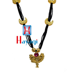 Chandrakor Manchali Black Beads Mangalsutra Chandra Long- Hayagi
