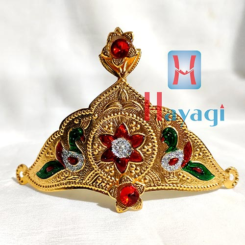 Crown/Mukut In Gold Polish for Ganesh and Gauri Buy Online_Hayagi(Pune)