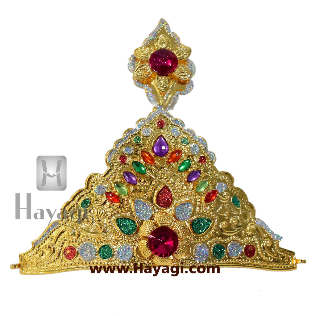 Multi-colour Crown Ideal for Ganesh and Gauri- Hayagi