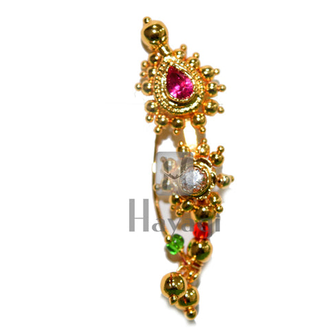 Nose Ring Nathni, Maharashtrian Golden Nath Buy Online-Hayagi