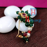 Nath (Pierced) Green Colour Traditional Online_Hayagi(Pune)
