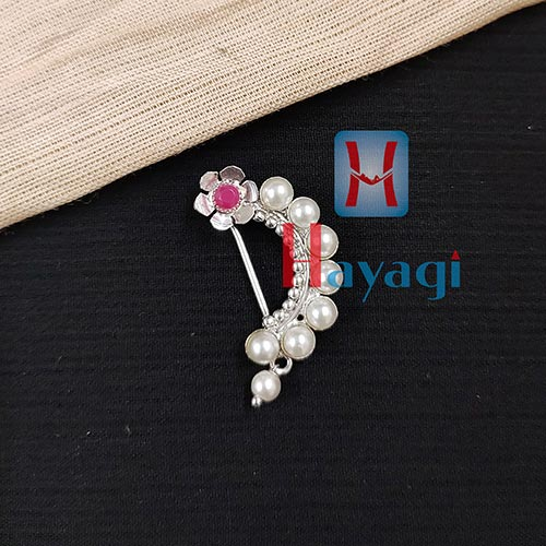 Oxidized Nath (Press) Pearl Design _Hayagi(Pune)
