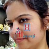 Oxidized Nath Silver Finish (Non Piercing and Piercing)-Hayagi Pune