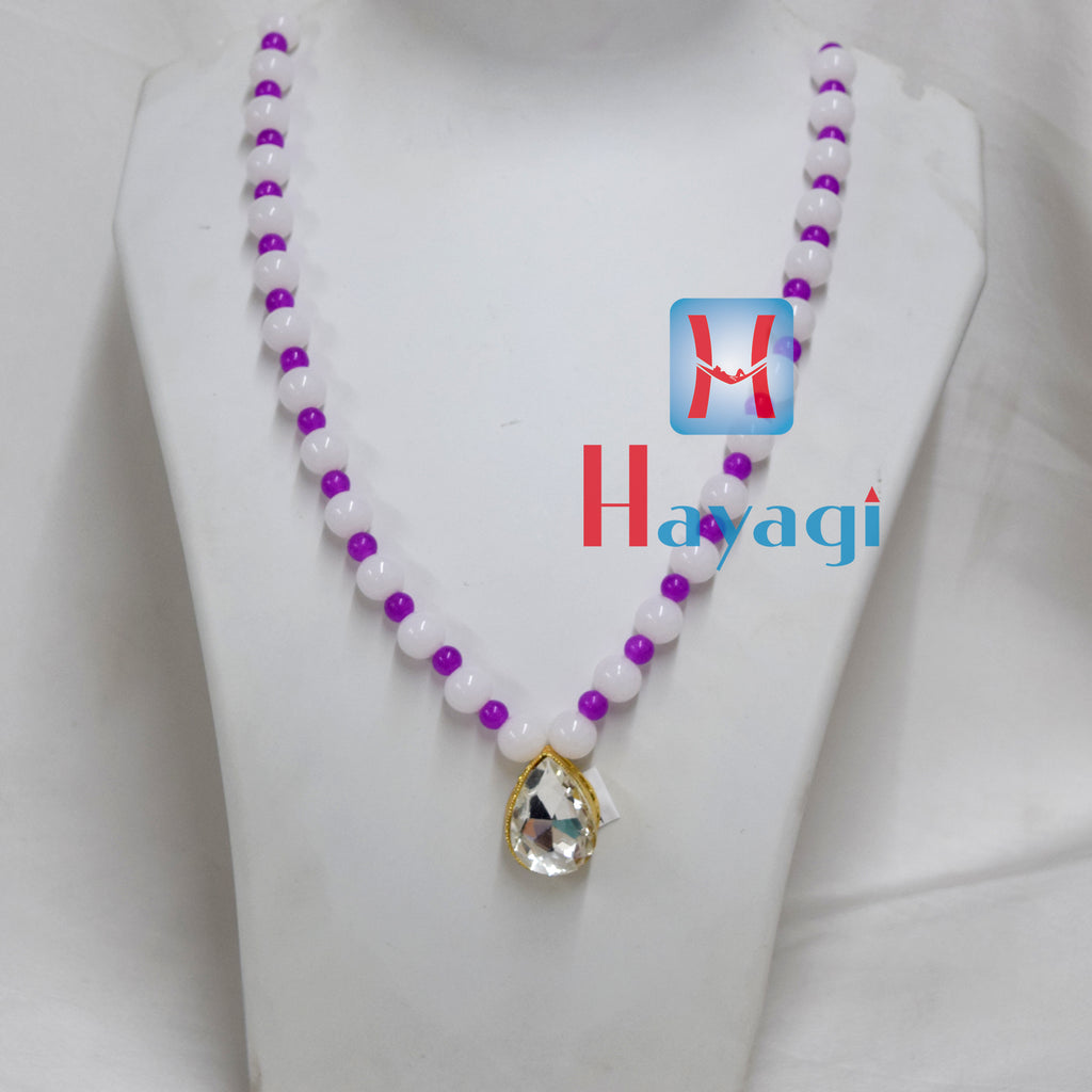 Blue white beads set fashionable necklace Buy Online - Hayagi