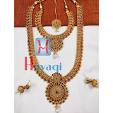 Bridal Necklace Set in Antique Finish Online_Hayagi(Pune)