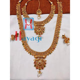 Bridal Necklace Set in Antique Finish Multiclr Stones Online_Hayagi(Pune)