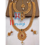 Bridal Necklace Set in Antique Finish Petal Design_Hayagi(Pune)