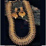 South Indian Long Necklace For Gorgeous Brides Gold Finish Hayagi(Pune)