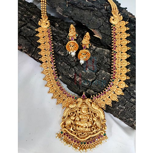 South Indian Matte Temple Jwellery For Bride_Hayagi(Pune)