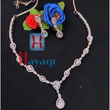 AD Necklace,Rose Gold White Design Online_Hayagi Pune