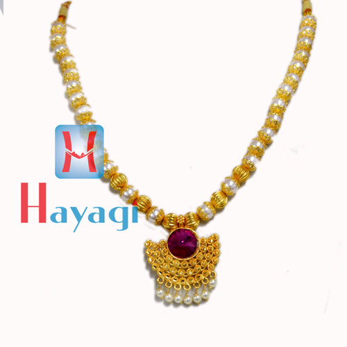 Thushi Moti Design Pearl Gold Polishing_Hayagi(Pune)