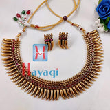 Necklace With Red Stones Design Gold Finishing Set Online Hayagi