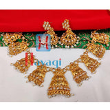 Necklace Triangle shape Pearls Design _Hayagi (Pune)