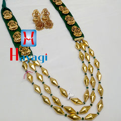 Bormala Ethnic, Antique Look Green Colour Necklace-Hayagi