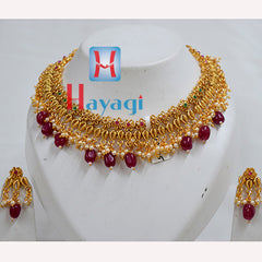 Necklace Short Multicolour Flower & Moti Design Online  -Hayagi
