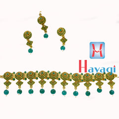 Mint Jewellery Necklace Fashion Green Colour Buy Online-  Hayagi
