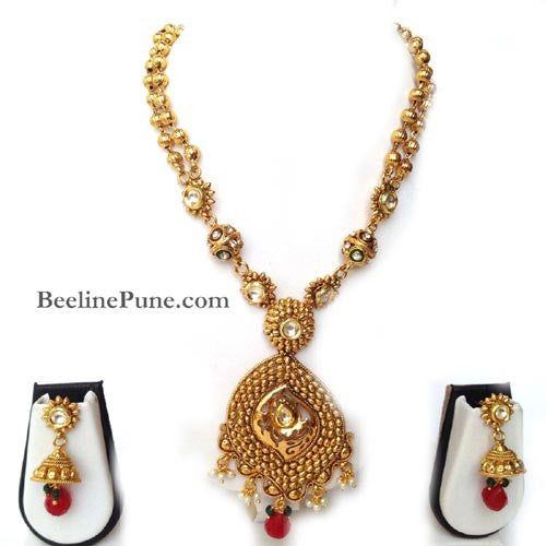 Amazing Pendant Set, Buy Gold Plated Necklace Online-Hayagi - Beeline  - 1