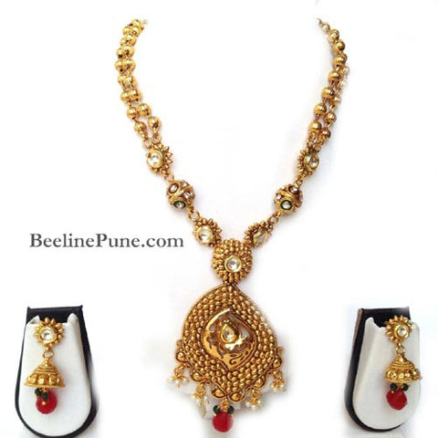 Pendant Set-Buy Gold Plated Necklace Online-Hayagi