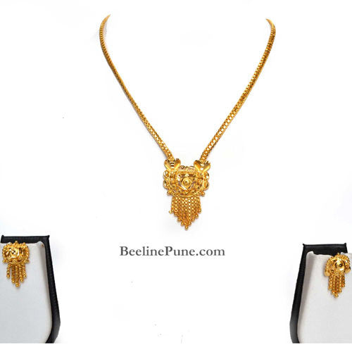 Gold Finish Necklace Set, Best Price Online India - Hayagi - Beeline