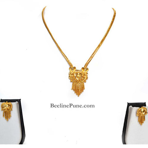 Gold Finish Necklace Set, Best Price Online India - Hayagi