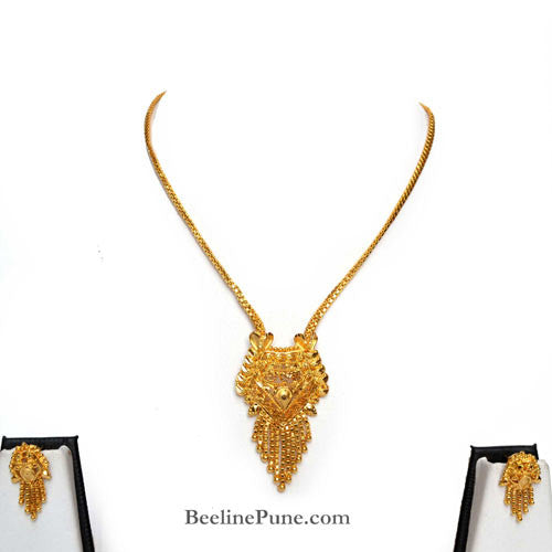Gold finish Necklace Set, Best Price Online-Hayagi - Beeline