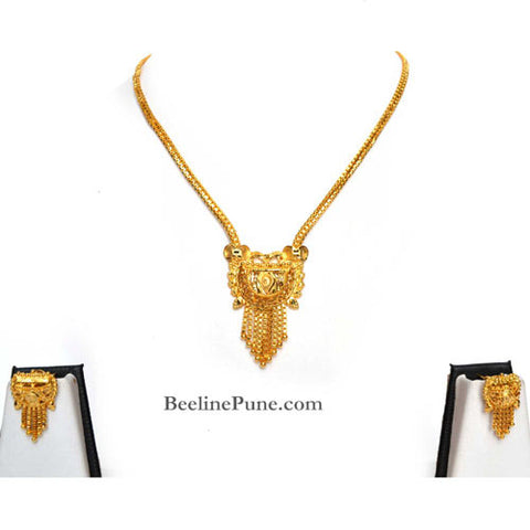 Necklace Set, gold finish Necklace Set, Best Price Online-Hayagi