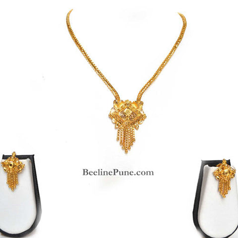 Gold finish Necklace Set, Best Price Online India-Hayagi