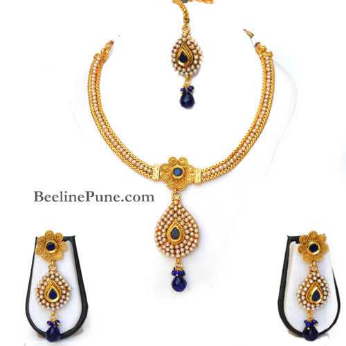97cd8d0e5 Beautiful Pearl Studded Necklace Set Online India