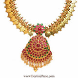 Bridal Laxmi Temple Long Necklace Set Online India-Hayagi - Beeline  - 2