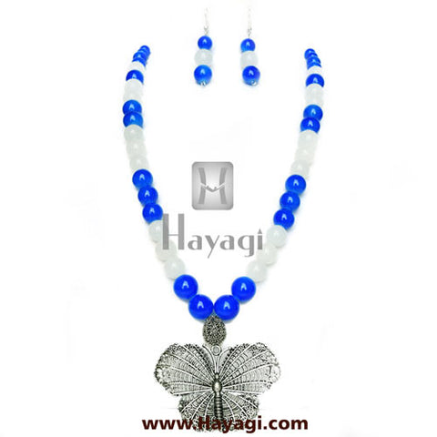 Beads Pendant Necklace Set Online Shopping - Hayagi