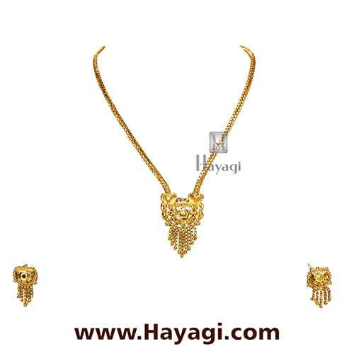 Gold Finish Necklace Set Online India - Hayagi - Beeline  - 1