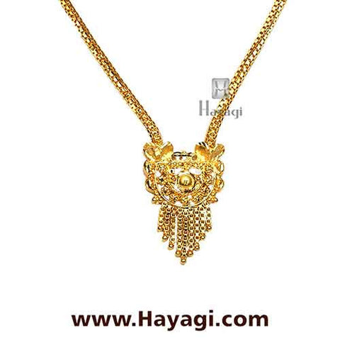 Gold Finish Necklace Set Online India - Hayagi