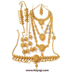 Bridal Necklace Set-Laxmi Necklace Set Online-Hayagi